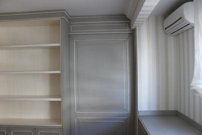 Caprichos de Hogar Decoración muebles a medida Salamanca Madrid España Cabo Verde proyecto despacho libreria escritorio puerta corredera omexco papel pint(2)