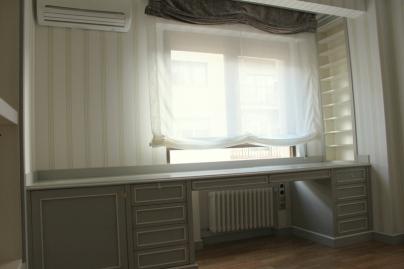 Caprichos de Hogar Decoración muebles a medida Salamanca Madrid España Cabo Verde proyecto despacho libreria escritorio puerta corredera omexco papel