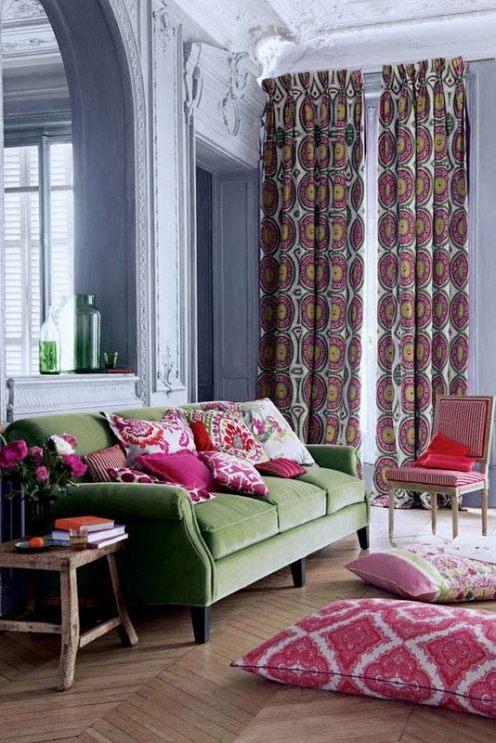 Caprichos de hogar proyecto Salamanca decoracion interiorismo lolo Espana telas fabrics tienda tapizados textil hogar gaston y daniela Manuel Canovas
