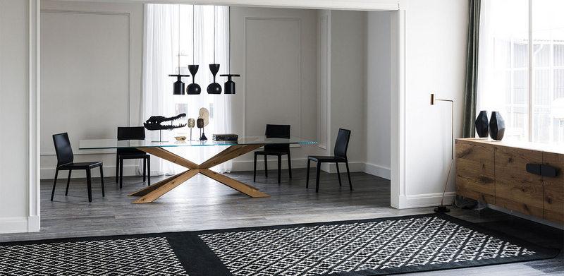 Mueble contemporaneo, Caprichos de Hogar, Salamanca, interiorismo, proyectos, decoradores, España, Madrid, Mesa comedor, lujo, Cattelan Italia