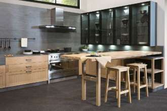 1.cocina Caprichos de Hogar Salamanca Delta mesa corredera sobre el copete iluminacion led (1)