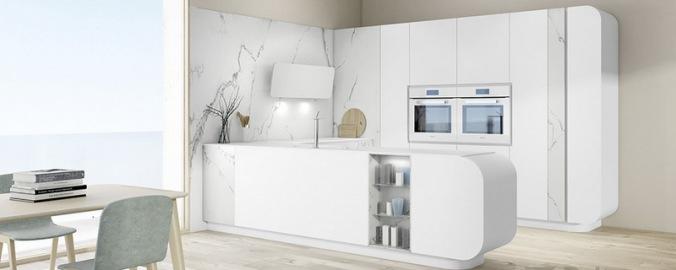 Caprichos de hogar Salamanca cocina muebles forniture kitchen espana tienda lolo proyecto interiorismo decoracion delta curva