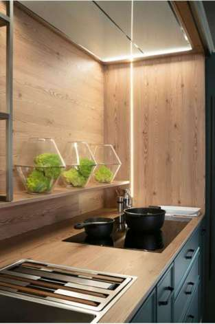 cocina Salamanca Caprichos de Hogar Delta iluminacion con barras de led