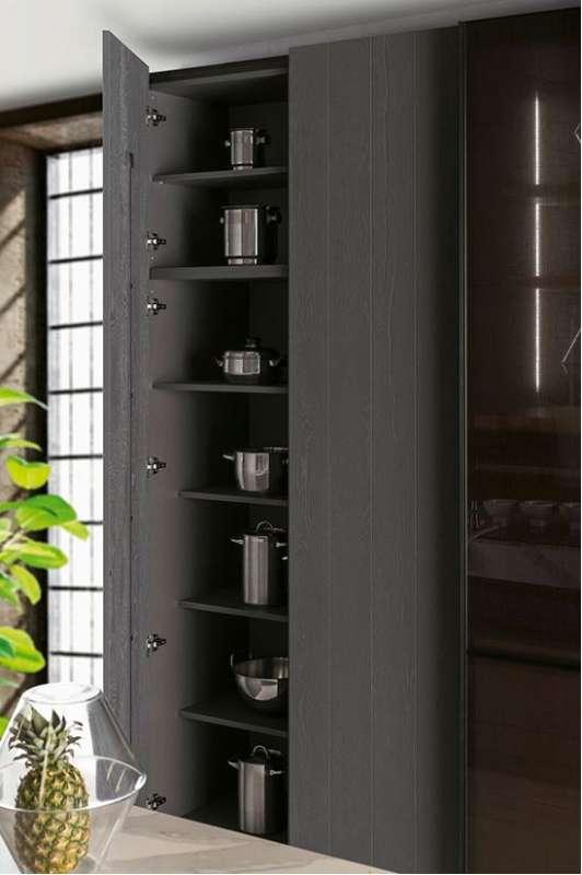 cocina Salamanca Caprichos de Hogar Delta madera armario despensero para almacenaje armazones en antracita