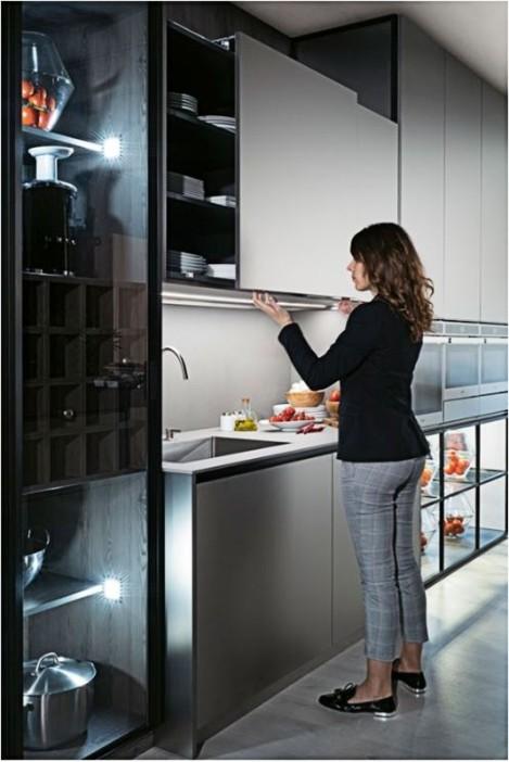 cocina Salamanca Caprichos de Hogar Delta puerta coplanar sin tirador iluminacion led (2)